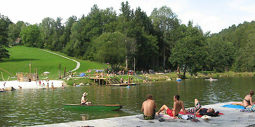 Badesee im Bayerischen Wald